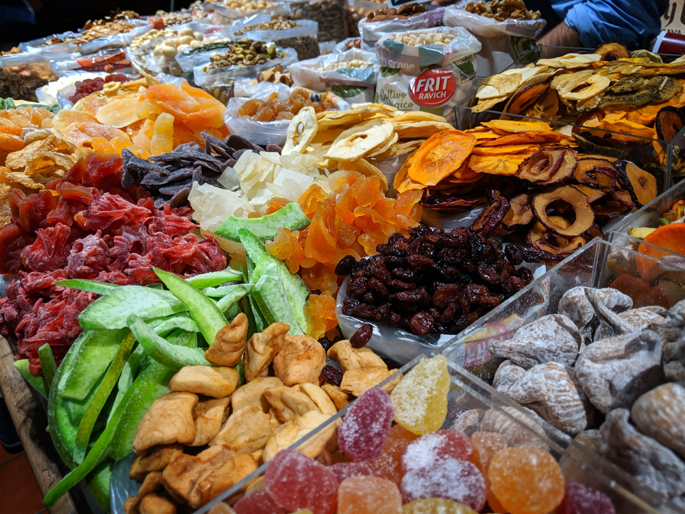Oliver dried fruits, Granada, Spain
