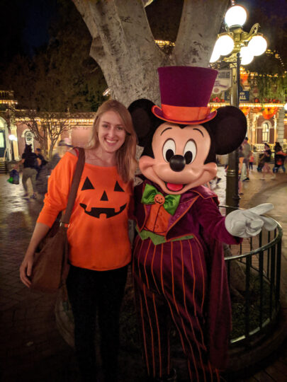 Halloween at Disneyland, Mickey Mouse