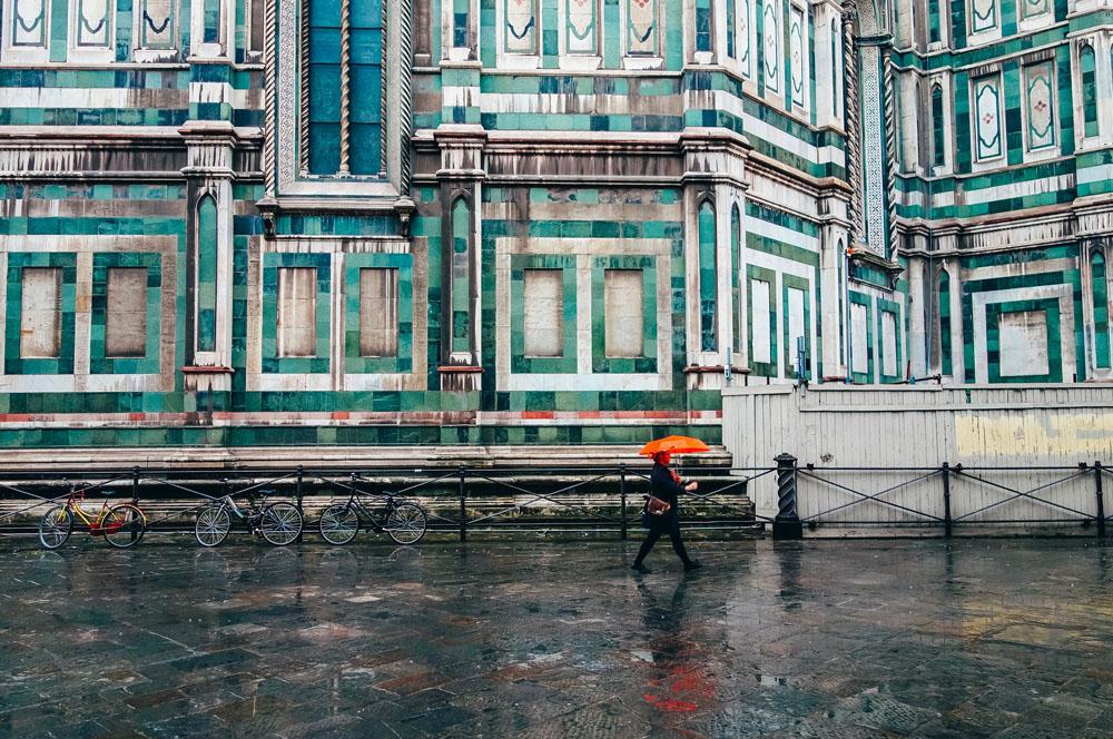 Florence, Italy rain