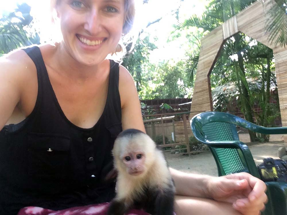 Jaguar Rescue Center monkey, Puerto Viejo, Costa Rica