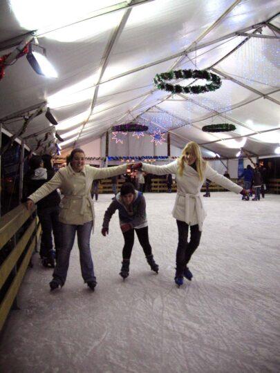 Ice skating in Madrid
