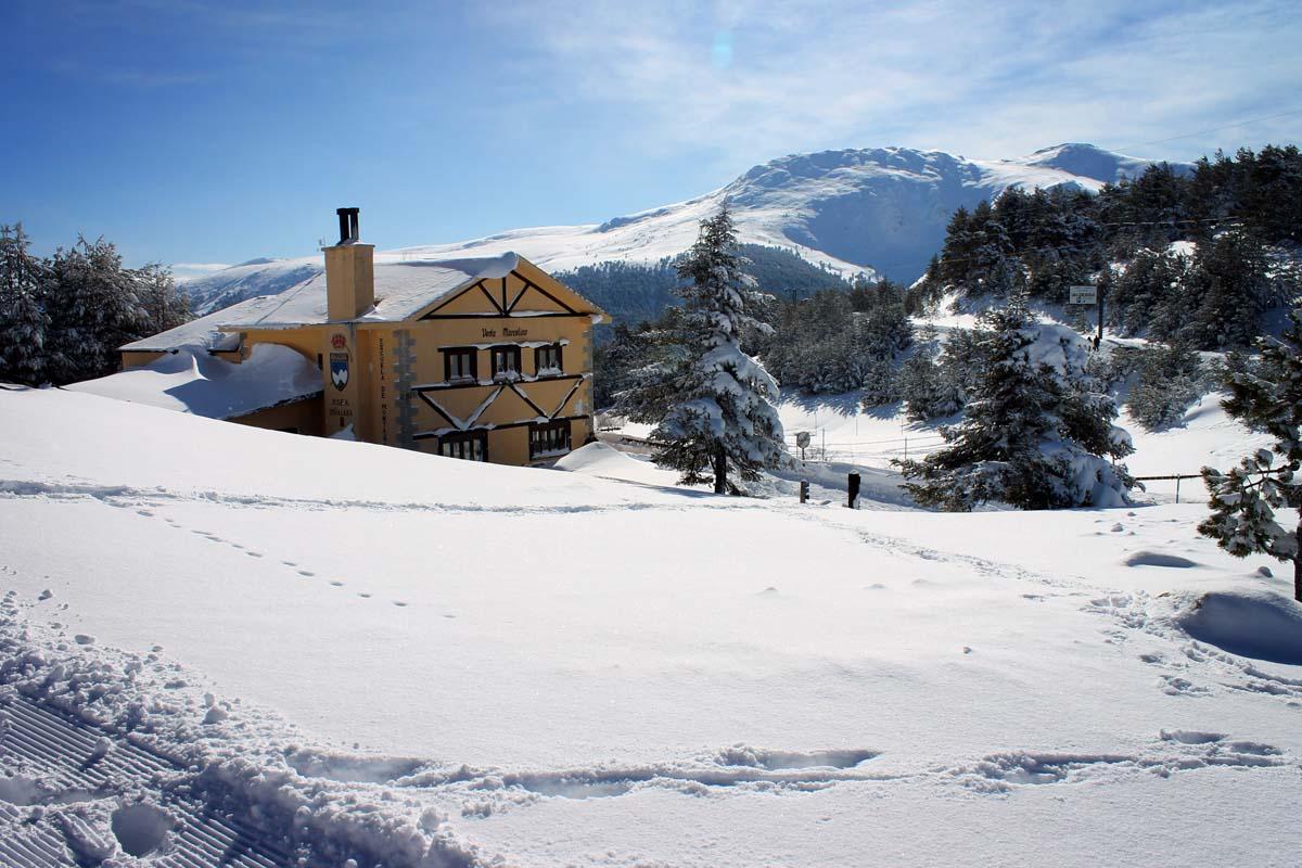 Peñalara Natural Park snow
