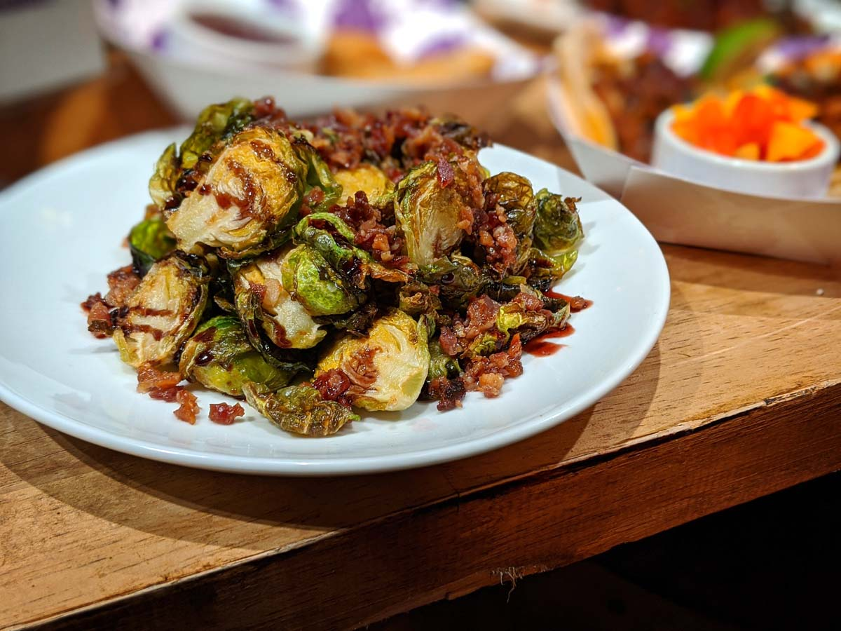 Boysenberry brussels sprouts