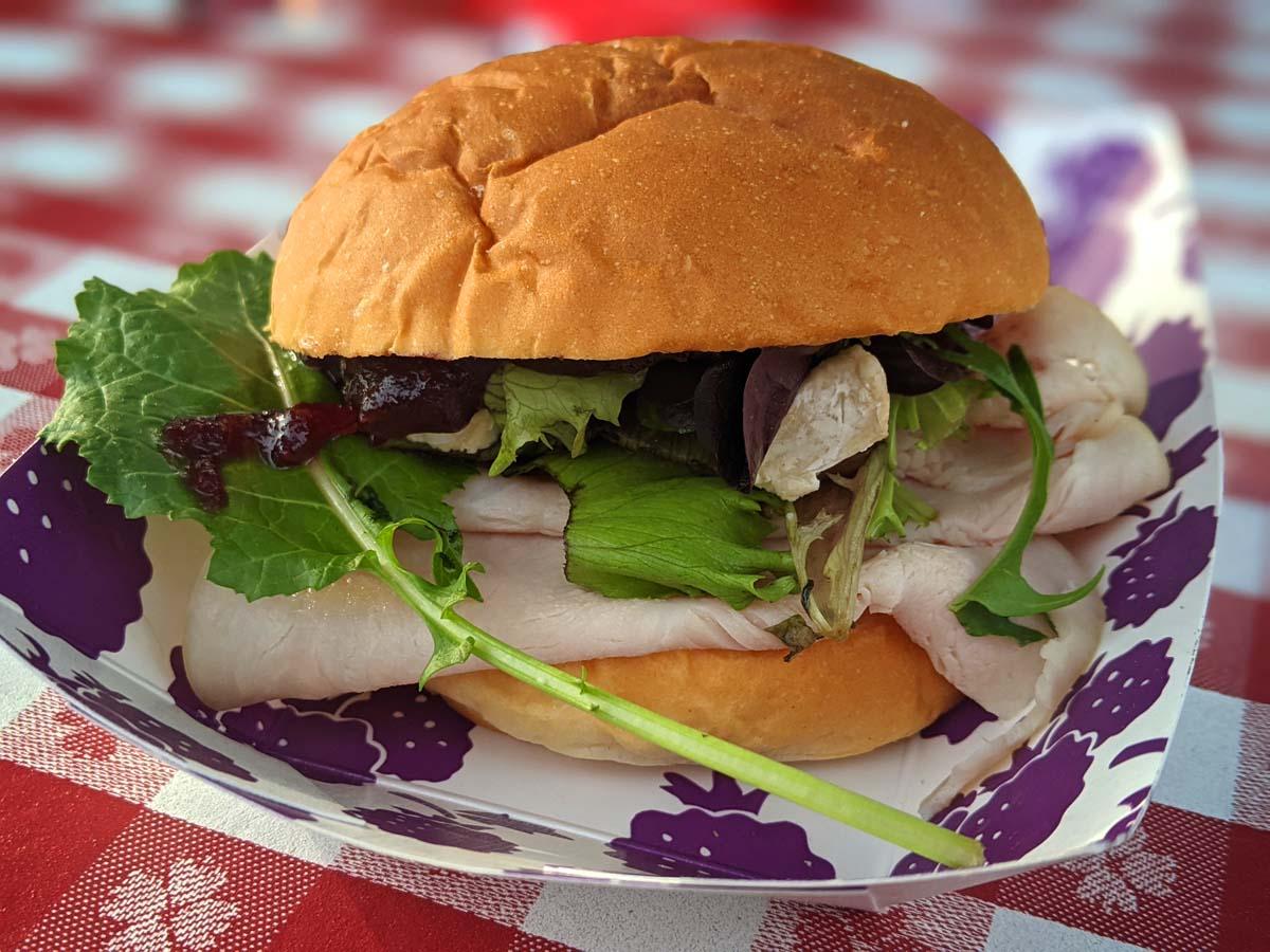 Knott's boysenberry turkey sandwich
